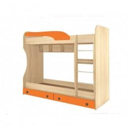 """Детская двухъярусная кровать """"Колибри №1 оранж"""""""