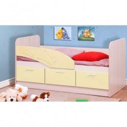 """Детская кровать """"Дельфин 3D"""" бежевый без матраса"""