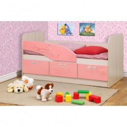 """Детская кровать """"Дельфин 3D"""" розовый без матраса"""