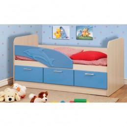 """Детская кровать """"Дельфин 3D"""" синий без матраса"""