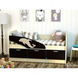 """Детская кровать """"Дельфин-55 венге"""""""
