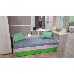 """Детская кровать """"Колибри лайм с ящиками"""""""