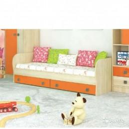 """Детская кровать """"Колибри оранж с ящиками"""""""