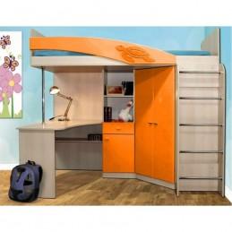 """Детская кровать-чердак """"Адель - 2"""" Оранжевый"""