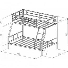 """Двухъярусная кровать """"Гранада-1"""" серый"""