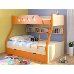 """Двухъярусная кровать """"Дельта 20.02"""" Оранжевый"""