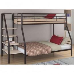 """Двухъярусная кровать """"Толедо 1"""" коричневый/Дуб молочный"""