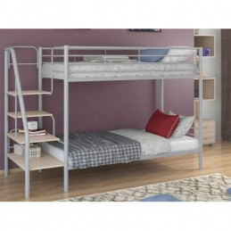 """Двухъярусная кровать """"Толедо"""" серый/Дуб молочный"""