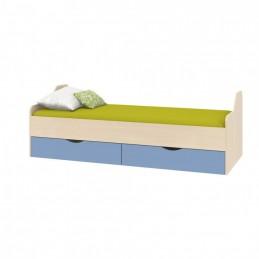 """Кровать нижняя """"Дельта-18.01"""" дуб/голубой"""