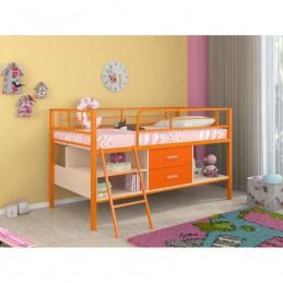 """Кровать-чердак """"Севилья Я - Мини"""" оранжевый"""