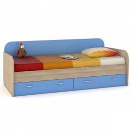 """Кровать 424 """"Ника"""" Капри синий"""