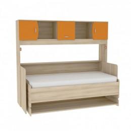 """Кровать-трансформер со столом 428Т """"Ника"""" Капри Оранжевый"""