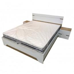 """Кровать с тумбами """"Анталия"""", Сонома – Белый Софт"""