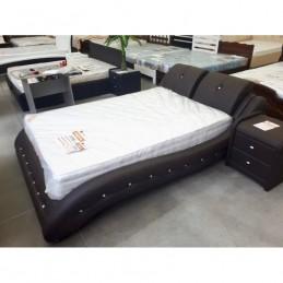 """Кровать """"Аврора"""" металлокаркас с ортопедическими ламелями 140 см, черный"""