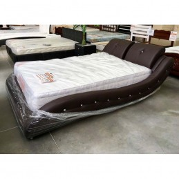 """Кровать """"Аврора"""" металлокаркас с ортопедическими ламелями 140 см, шоколад"""