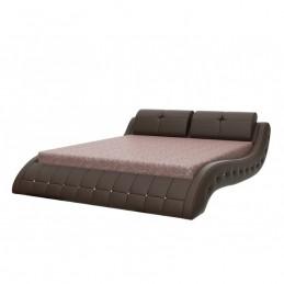 """Кровать """"Аврора"""" металлокаркас с ортопедическими ламелями 160 см, шоколад"""