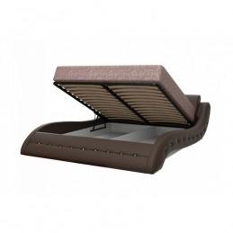 """Кровать """"Аврора"""" металлокаркас с подъемным механизмом 160 см, шоколад"""