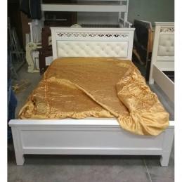 """Кровать """"Грация"""" античный белый 1,4 м"""