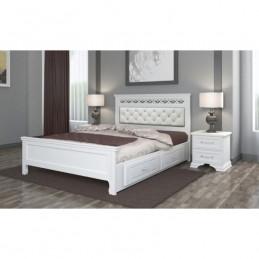 """Кровать """"Грация"""" античный белый 1,6 м, с ящиками"""
