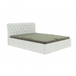 """Кровать """"Дженни"""" белый 160 с ортопедическим основанием"""