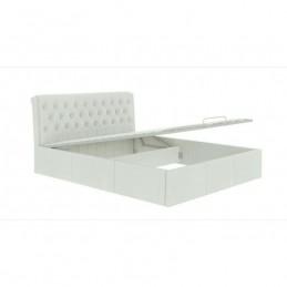 """Кровать """"Дженни"""" белый 160 с подъемным механизмом"""