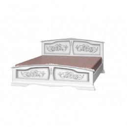 """Кровать """"Елена"""" белый жемчуг 1,6 м"""