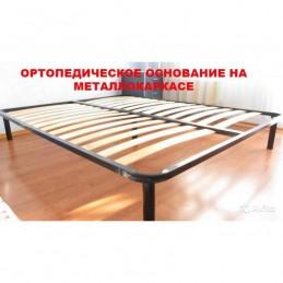 """Кровать """"Жасмин"""" дуб молочный, темная кожа 1,6 м"""