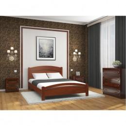 """Кровать """"Камелия-3"""" Вишня 1,6 м без матраса"""