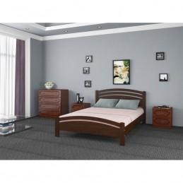 """Кровать """"Камелия-3"""" Дуб коньяк 1,6 м без матраса"""