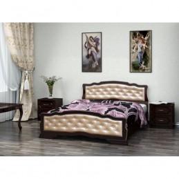 """Кровать """"Карина-10"""" 1,6 м Орех темный"""