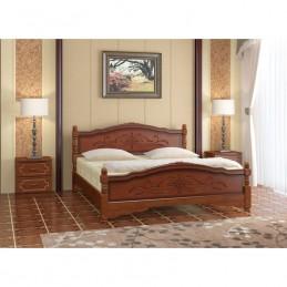 """Кровать """"Карина-12"""" Орех 1,6 м"""