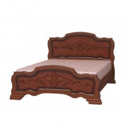 """Кровать """"Карина-17"""" Орех 1,6 м"""