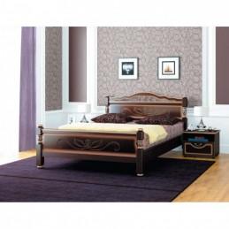 """Кровать """"Карина-5-4 темный орех"""" 1,6 м"""