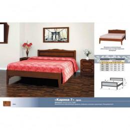 """Кровать """"Карина-7"""" 1,4 м деревянная"""