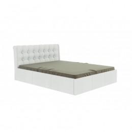 """Кровать """"Лагуна"""" белый 160 с ортопедическим основанием"""