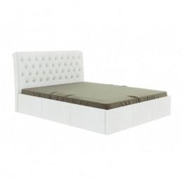 """Кровать """"Прима"""" белый 160 с ортопедическим основанием"""