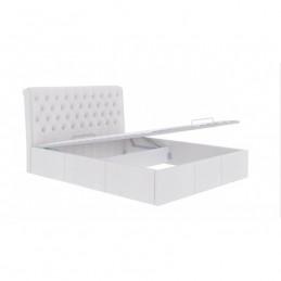 """Кровать """"Прима"""" белый 160 с подъемным механизмом"""