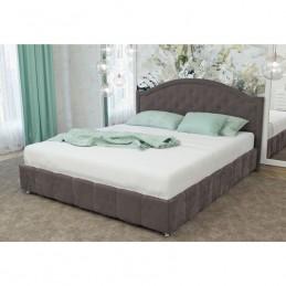 """Кровать """"№ 295 МК57"""" с подъемным механизмом велюр ява серый"""