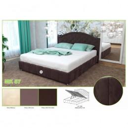 """Кровать """"№ 295 МК57"""" с подъемным механизмом шоколад"""