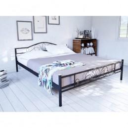 """Кровать двуспальная """"Лара Люкс"""" черный  140*200см без матраса"""