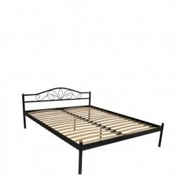 """Кровать двуспальная """"Лара"""" черный  160*200см без матраса"""