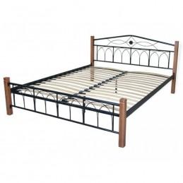 """Кровать двуспальная """"Элизабет"""" черный 160*200 см"""