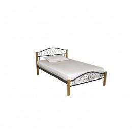 """Кровать односпальная """"Элис люкс вуд"""" черный 90*200 см без матраса"""