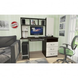 "Компьютерный стол ""КС - 002"" фасад Беленый дуб"