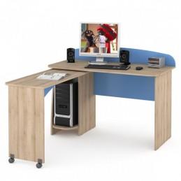 """Компьютерный стол 430 """"Ника"""" Капри синий"""