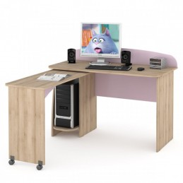 """Компьютерный стол 430 """"Ника"""" Лаванда"""