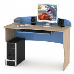 """Компьютерный стол 431Р """"Ника"""" Капри синий"""