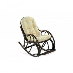 """Кресло-качалка """"Эко 05/17"""" с подножкой Браун"""