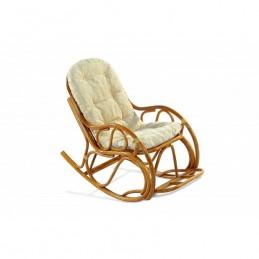 """Кресло-качалка """"Эко 05/17"""" с подножкой Коньяк"""