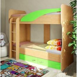 """Детская двухъярусная кровать """"Мийа-01 лайм"""""""